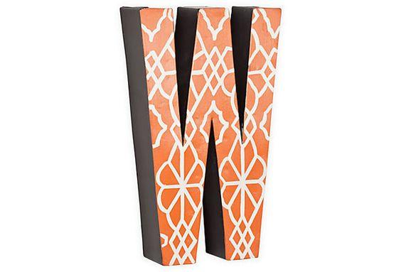 Letter W, Orange Geometric on OneKingsLane.com