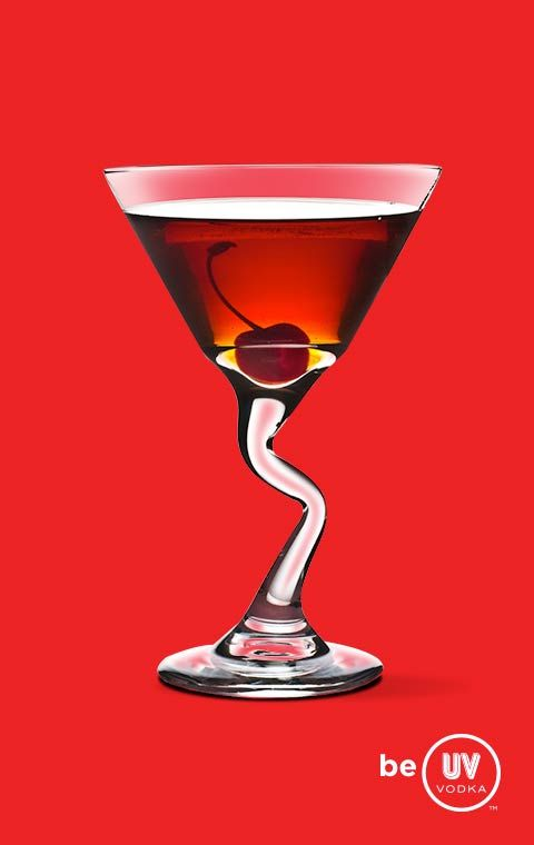 UV Vodka Recipe: Cherry Cosmo 1 Part UV Cherry 1 Part Triple Sec 1 Part Cranberry Juice Shake with ice and strain into a martini glass and enjoy. This is my favorite so far. I'm partial to cherries, coconut, and anything coffee flavored.