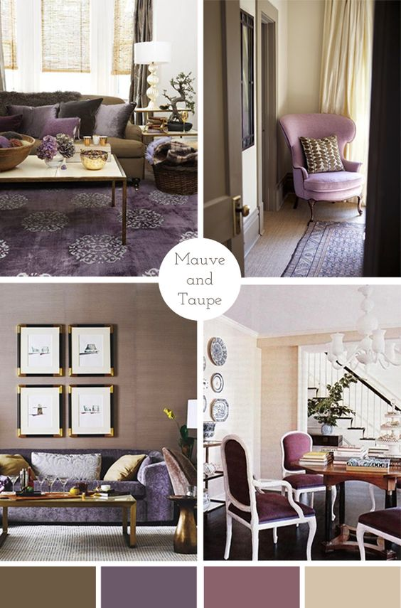mauve and taupe color palette home decor