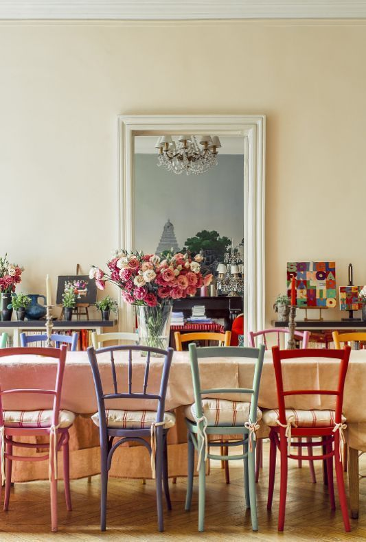 Image Result For Dining Space Mismatched Chairs Mismatched Dining Chairs Woven Dining Chairs Dining Chairs