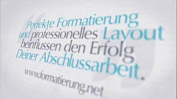 Formatierung Bachelorarbeit, formatieren Diplomarbeit, Layout Doktorarbe...