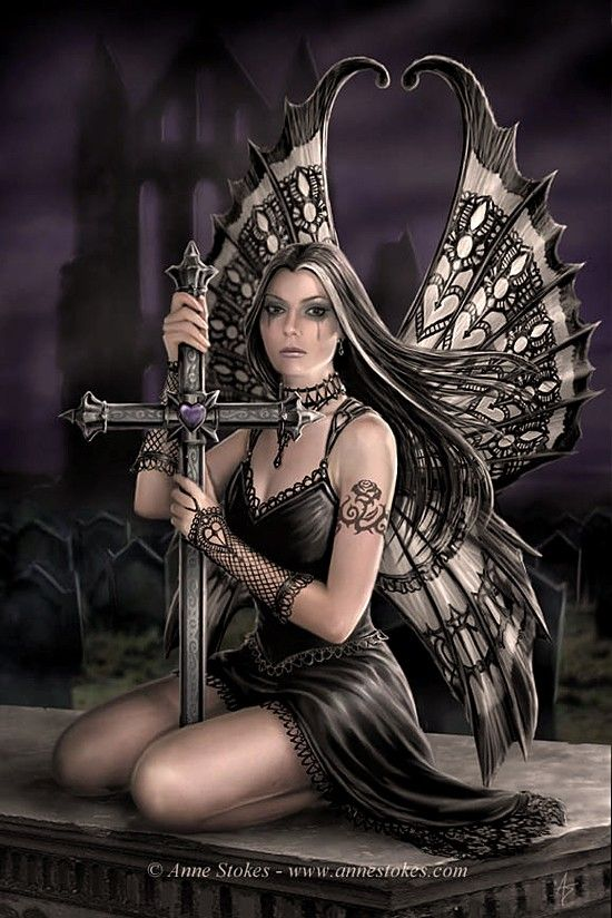 sexy gothic fairy wallpaper - photo #7