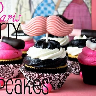 Pink and Black!  get the mustache lolli's at our store!