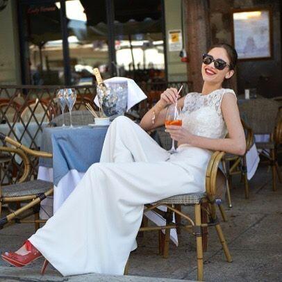 A gorgeous girl and a Spritz Aperol! Effortless style! #weddingstyle #madeinbritain #couture #weddingdress #designer #italyiloveyou #bridetobe #italywedding #lakegarda #Verona by stephanieallin