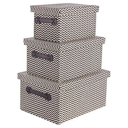 Dieses Boxen-Set eignet sich hervorragend, um Spielzeug, Accessoires oder Schuhe praktisch und dekorativ zu verstauen. Durch die unterschiedlichen Größen f...