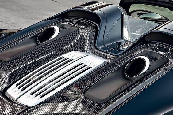 porsche 918 spyder 2014 motorabdeckung motorhaube