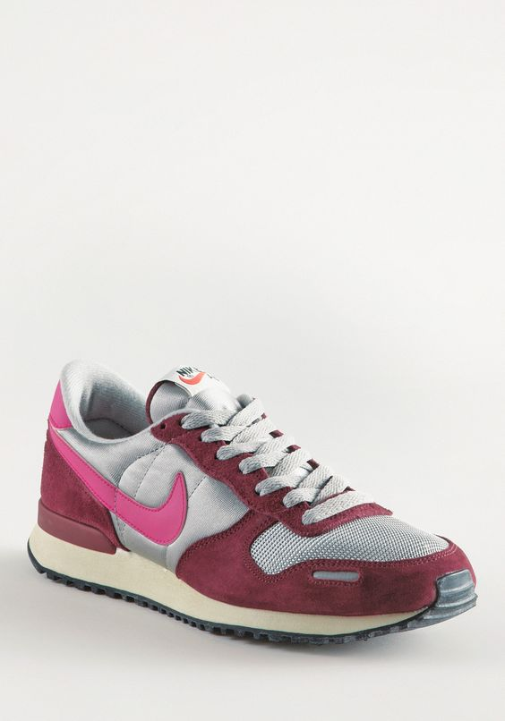 NIKE Air Vortex VNTG NYL/SU darkred-pink-lightgrey, Retro & Classics,