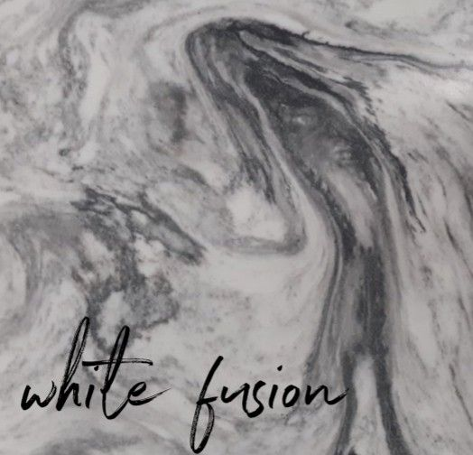 White Fusion Quartz Sample Material Countertops Pental Utah