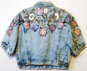 embroidery on denim jacket