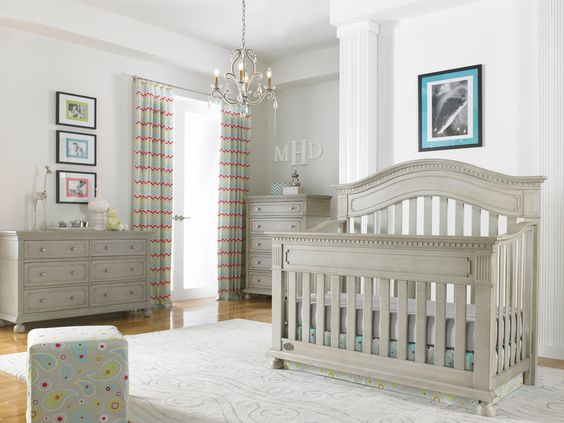 Dolce Babi | Naples Collection Convertible Crib - Grey Satin Finish ...