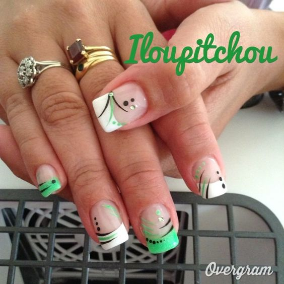 Image manu d co d 39 ongle en gel mod les ongles pinterest photos - Modele d ongle ...