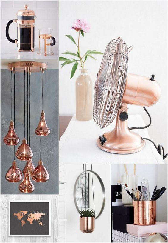 como usar cobre na decoração decor ambiente casa borboletas na carteira-6:
