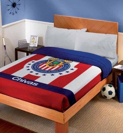 cobertor fleece con borrega club chivas cobertores hogar