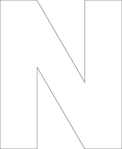 block letter n letter n free printable and templates on 122