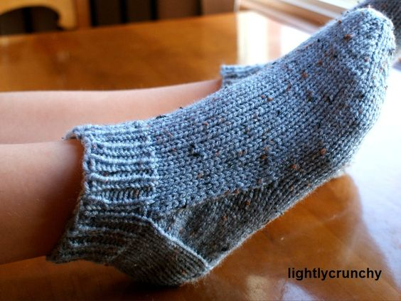 Simple Sock Knitting Patterns Beginner : I made socks! Ankle socks, Stove and Easy patterns