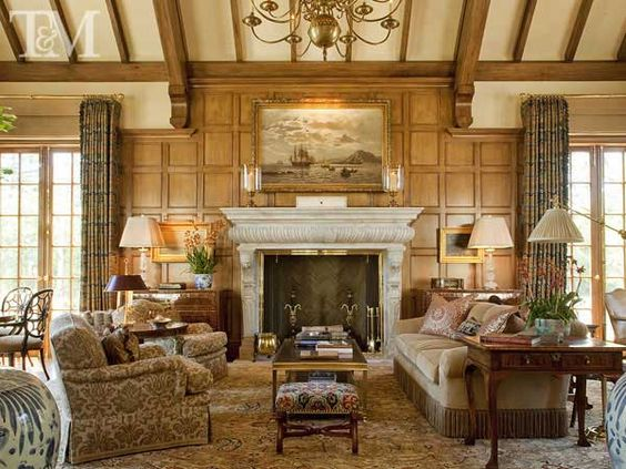 Beautiful fireplaces and fireplace wall on pinterest for Beautiful sitting rooms