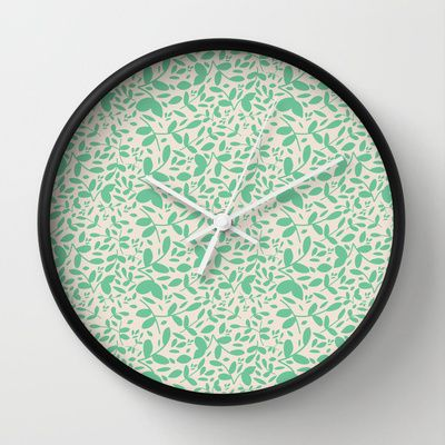Leaves - Wall Clock - by Sunshine Inspired Deigns