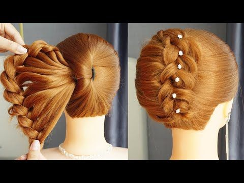 Latest French Bun Hairstyle 2020 Big French Bun Hairstyle With New Trick Beautiful Hairstyle Youtube Bun Hairstyles Hair Styles Hairstyle Youtube