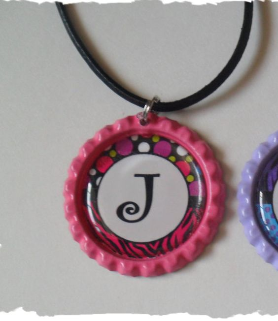 Hey, I found this really awesome Etsy listing at https://www.etsy.com/listing/117029509/pink-polka-dot-zebra-initial-j-bottlecap