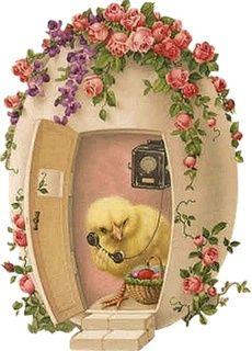 (via Calling mom…Vintage card ❤   Easter Parade ❤   Pinterest):
