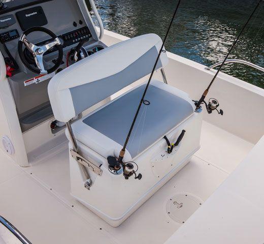 Grey Center Console Marine Boat Premium Cover Small