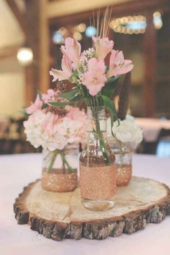 Wood Slices Are A Great Idea For Any Woodland Boho Rustic And Organic Wedding And They Are Very Affordable You May Use Them Inexpensive Wedding Centerpieces Diy Wedding Decorations Rustic