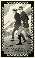 1924 Print Poster C. R. W. Nevinson Walking Men England Countryside Rail Travel