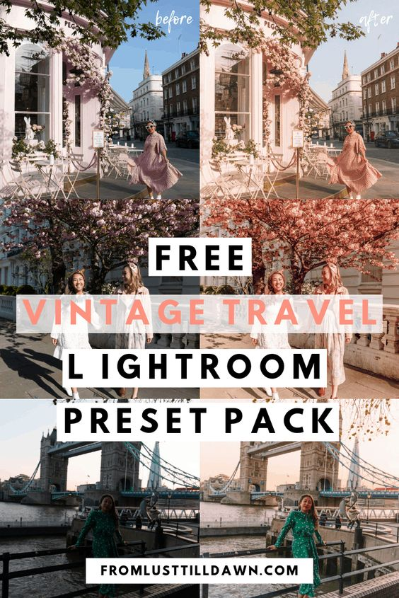 Looking for vintage Lightroom presets to make your Instagram travel photos pretty in pink? Check out this FREE vintage Lightroom presets pack. It includes four free presets. // PIN FOR LATER // #freepresets #presetsforlightroom #lightroom #lightroompresets #vintagepresets #retropresets #freepresetsforlightroom #photoediting #instagrampresets #travelpresets #freetravelpresets #travelblogger #travelinstagrammer