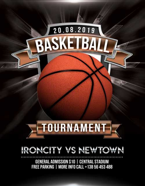 Check Out The Basketball Tournament Free Flyer Psd Template Only On Https Freepsdflyer Com Basketball Flyer Template Free Psd Flyer Templates Free Psd Poster