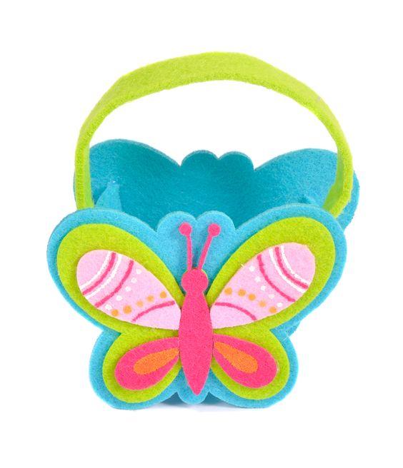 Joanna Wood Blue Felt Butterfly Basket  www.joannawood.co.uk #felt #butterfly #basket