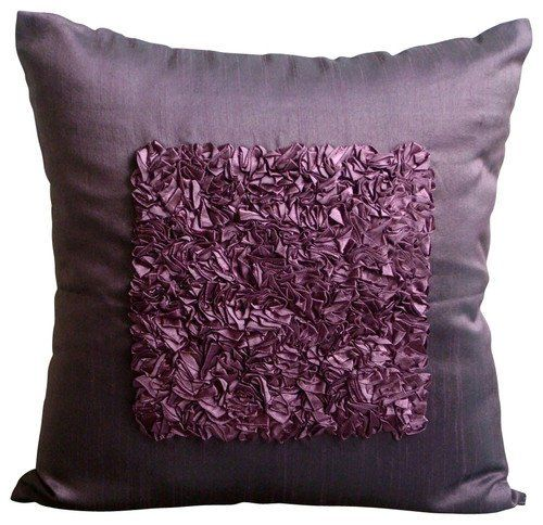 Throw Pillow For Bed Plum Purple Decorative 24x24 Etsy Plum Throw Pillows Silk Throw Pillows Throw Pillows