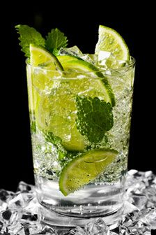 Virgin Caipirinha  Half a lime Half a lemon Half an orange Ginger ale Sugar cubes Dice the lime, lemon and orange into small pieces. Place the pieces in the bottom of a glass. Add a sugar cube to the mix and plenty of crushed ice. Top the glass with the ginger ale and garnish with a sprig of mint after some stirring the mixture thoroughly.