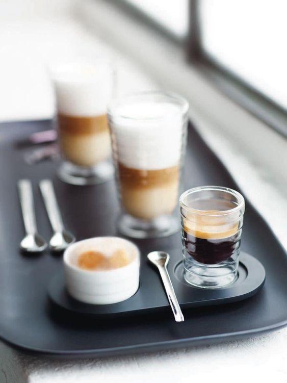 nespresso latte macchiato and coffee on pinterest. Black Bedroom Furniture Sets. Home Design Ideas
