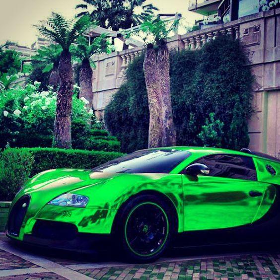 Lime Green Bugatti Veyron