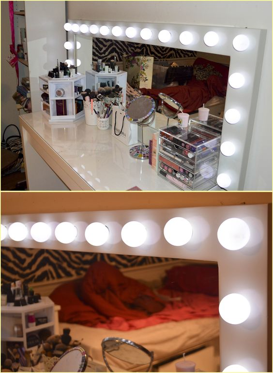 DIY Hollywood Mirror- Built from scratch - A Drugstore Addiction