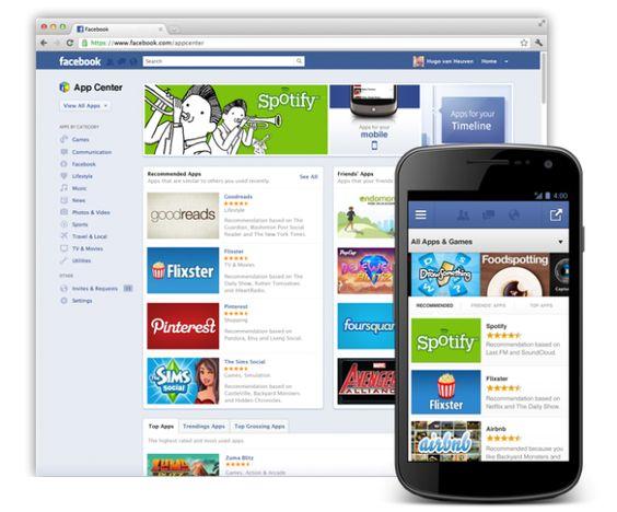 Facebook cria loja de aplicativos
