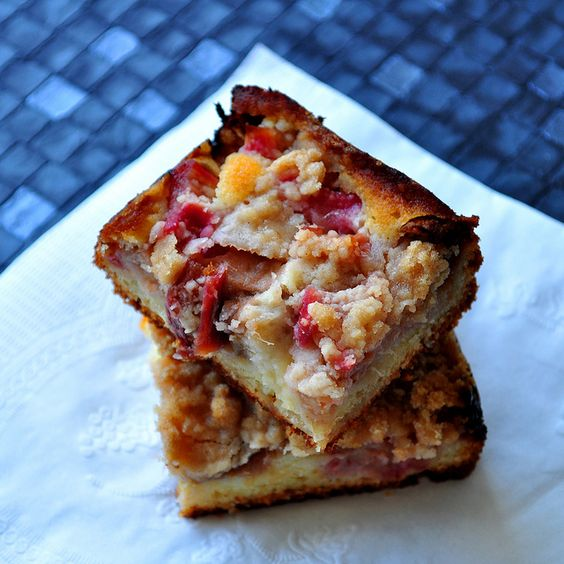 Rhubarb Snacking Cake | Summer By Design | Pinterest | Food Art, Quilt ...