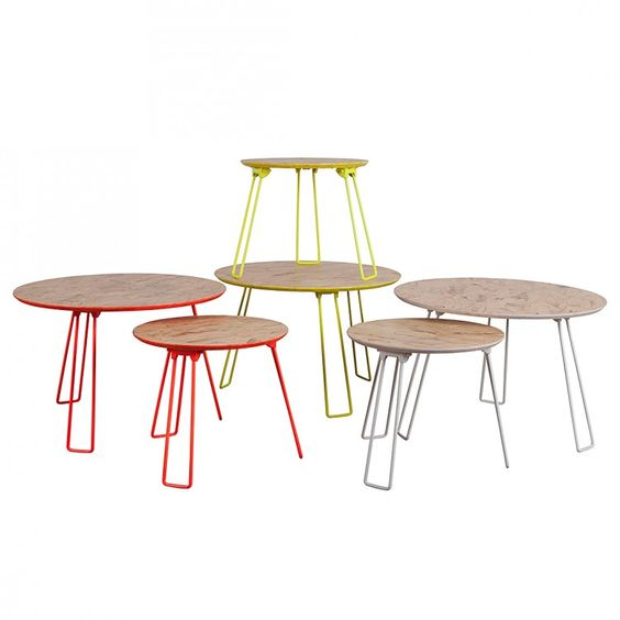 Colourful Sidetables - Perfekt To Decorate Some Flowers On