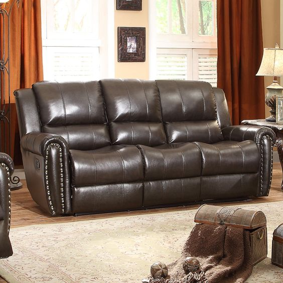 Bosworth Leather Double Reclining Sofa