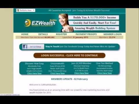 Как заработать $172118  БЕЗ ВЛОЖЕНИЙ !!! Регистрация: http://www.EzWealthBuilder.net/?civan1806 Проверьте спонсора обязательно: Alvidas Matula (Username: civan1806)