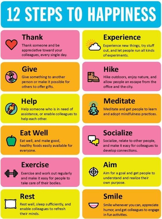 Happiness in 12 steps - ( Thanks ) (Exercise ) (Smile ) ( Help ) ...