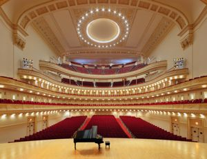 Carnegie Hall...I would sit on that piano and play for hours.