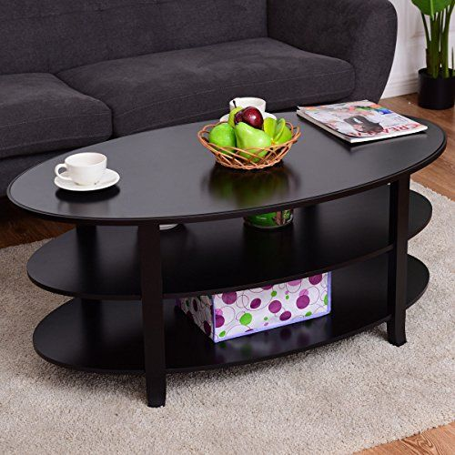 Coffee Table 3 Tier Oval Shaped