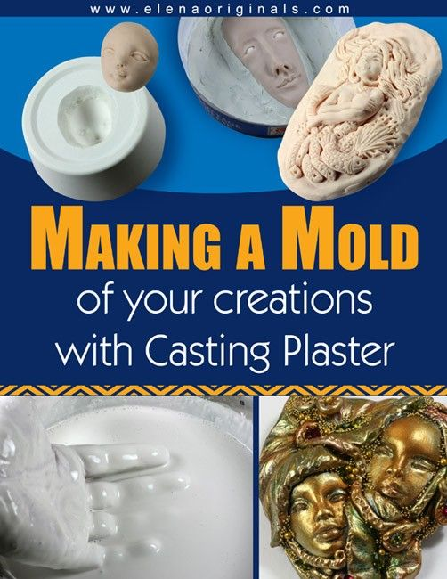 Pdf Make A Mold Of Your Creations With Casting Plaster Ebook Downloadable Tutorial Homemade Clay Plaster Doll Making Tutorials
