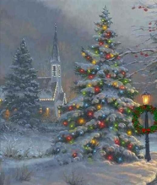 Pin By Rachel Summers On Beautiful Churches Around The World Country Christmas Christmas Scenes Christmas Images
