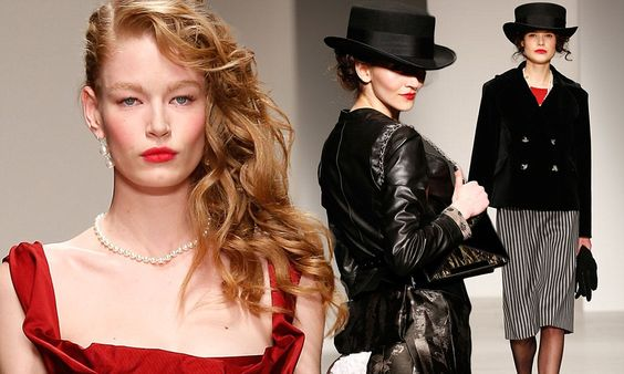 Vivienne Westwood showcases a sexy twist on high society dressing #milliinery #judithm #hats