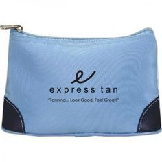 Two-Tone Zippered Pouch #FemmePromo #Privatelabelcosmeticbags