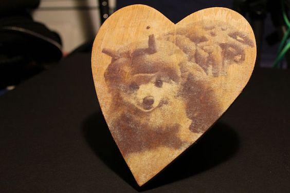 Custom image transfer onto wood