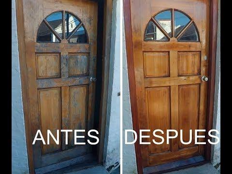 1133 Como Restaurar Una Puerta De Madera Youtube Pintar Puertas De Madera Madera Restaurar Muebles De Madera