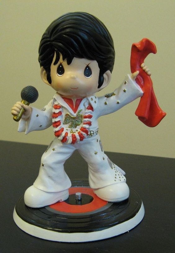LE BNEW Precious Moments I Love Elvis Rockin' Hit Songs Figurine ALOHA HAWAII
